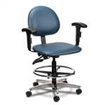Clinton Lab Stool with Contour Seat and Backrest