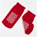 Double Sided Slipper Socks; Small - Red (48/Cs)