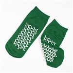 Double Sided Slipper Socks; Medium - Green (48/Cs)