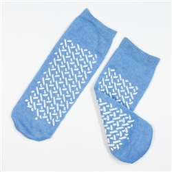 Double Sided Slipper Socks, Large - Sky Blue (48/CS)