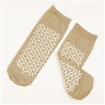 Double Sided Slipper Socks, XLarge - Beige (48/Cs)