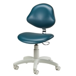5-Leg Pneumatic Stool w/ Contour Seat & Lumbar-Shaped Backrest