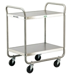 Lakeside 500 Lb Capacity, Tubular Frame cart, (2) 18 x 27 Inch Shelves