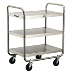 Lakeside 500 Lb Capacity, Tubular Frame cart, (3) 18 x 27 Inch Shelves