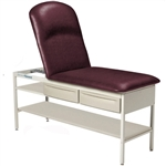 Brewer Element Adjustable Backrest Treatment Table w/ Pillow, Drawers