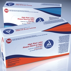 High Risk Latex Exam Glove P/F- Sm 15mil 10/50/Cs
