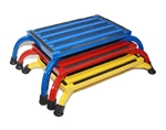Hausmann 2418 Heavy Duty Color-Coded Nested Footstools