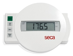 Seca Wall Mounted Measuring Rod w/ Wireless Display