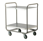 Lakeside 500 Lb Capacity, Tubular Frame Cart, (2) 21 x 33 Inch Shelves