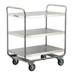 Lakeside 500 Lb Capacity, Tubular Frame cart, (3) 21 x 33 Inch Shelves