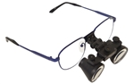 Seiler 2.5x Power Titanium Loupes 340mm (Short) - Blue