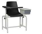 Winco Blood Drawing Chair with Drawer - Plastic Seat