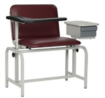 Winco XL Blood Drawing Chair with Drawer - Padded Vinyl