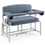 Winco XXL Bariatric Extra-Wide Blood Drawing Chair - with Drawer and Flip Arm