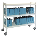 Omnimed Wide Open Style Chart Rack (Wired Dividers) - Capacity 24