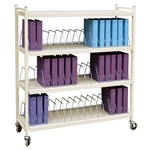 Omnimed Wide Open Style Chart Rack (Wired Dividers) - Capacity 36