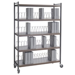 Omnimed Wide Open Style Chart Rack (Wired Dividers) - Capacity 48