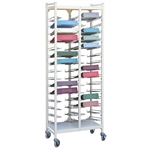 "Omnimed Horizontal Open Style Chart Rack - 3.5"" Binder Size - 19"" Height Extention"