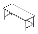 Stainless Steel Utility Tables w/ Undershelf