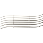 "Miltex 10-1/2"" Hank Uterine Double End Dilators - Double Ended - Set of 6 in Khaki Roll"