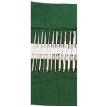 "Miltex Set of 7"" Hegar Uterine Dilators - Single End - Set of 14: Sizes 4mm to 17mm In Kahki Roll"