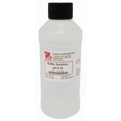 Ohaus pH Buffer, pH 9.18, Clear Solution, 250ml