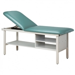 Clinton Alpha Series Treatment Table with Shelving