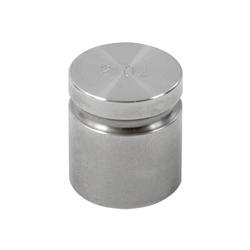 Ohaus 2oz Class F Test Weight with No Certificate, Cylindrical with Groove