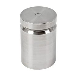 Ohaus 5000g Class F Test Weight with No Certificate, Cylindrical with Groove
