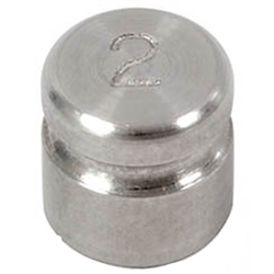 Ohaus 2g Class F Test Weight with Traceable Certificate, Cylindrical with Groove