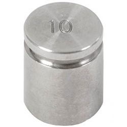 Ohaus 10g Class F Test Weight with Traceable Certificate, Cylindrical with Groove
