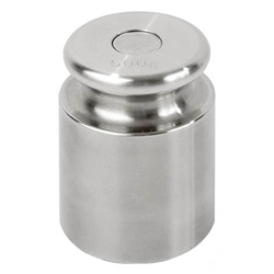 Ohaus 500g Class 7 Economical Stainless Steel Cylindrical Weight, Traceable Certificate