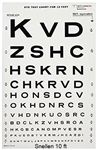 Dukal Tech-Med Eye Chart, Illuminated