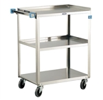 Lakeside 311 Utility Cart, 300 Lb Capacity, (3) 15.5 x 24 Inch Shelves
