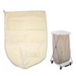 "Brewer 25"" Rope Style Hamper Bag, 10 oz. Beige Cotton"