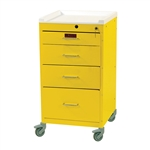 Harloff Infection Control Cart, Four Drawers with Key Lock