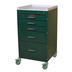 Mini Line, Six Drawer, Tall Procedure Cart, Key Lock