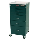 Mini Line Six Drawer Anesthesia Cart w/ Electronic Lock