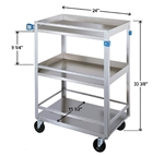 Lakeside Standard Duty, 3 Shelf, Small Guard Rail Cart