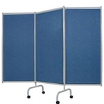 Winco Designer 3-Panel Steel Frame Privacy Screen