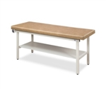 Clinton Flat Top, Alpha Series, Straight Line Treatment Table with Full Shelf