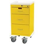 Harloff Infection Control Cart, Three Drawers with Key Lock