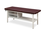 Clinton Flat Top, Alpha Series, Straight Line Treatment Table with Shelving