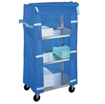 Lakeside Standard Duty, 4 Shelf, Compact Utility Cart, with Nylon Cover