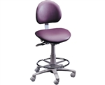 Brewer 3335B Dental Operator Stool w/ Adjustable Footring