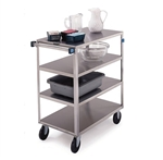 Lakeside Medium Duty, 4 Shelf, All Edges Turned Down, Medium Utility Cart