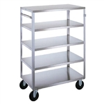 Lakeside Medium Duty, 5 Shelf, All Edges Turned Down, Medium Utility Cart