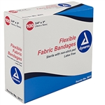 "Adhesive Fabric Bandages, Fingertip  1.75"" x 2, Sterile-24/100/Cs"