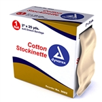 "Cotton Stockinette 3"" x 25 yds 4 Rolls/Cs"