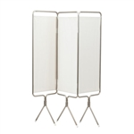Winco Privess Modular 3 Panel Aluminum Folding Screen with SureChek
